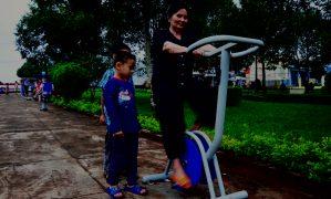 TP. Pleiku: Lắp đặt máy tập thể dục ngoài trời tại các công viên