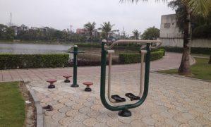 Sắc xuân trong công viên Thạch Bàn