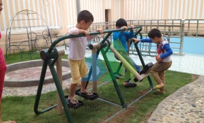 Khu vui chơi phát triển vận động tại trường mầm non Hoa Mai – Lào Cai