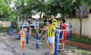 Phương pháp luyện tập thể dục thể thao với dụng cụ TDTT ngoài trời