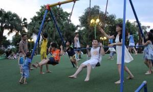 Có gì tại sân chơi miễn phí hiếm hoi cho trẻ em thủ đô?