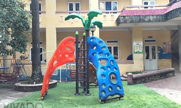Sân chơi tại Trung tâm nuôi dưỡng trẻ khuyết tật Hà Nội