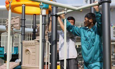 Lắp đặt tổ hợp cầu trượt KAIQI – Trường mầm non Ngôi Sao Xanh