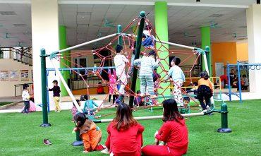 Sân chơi trường mầm non Xuân La